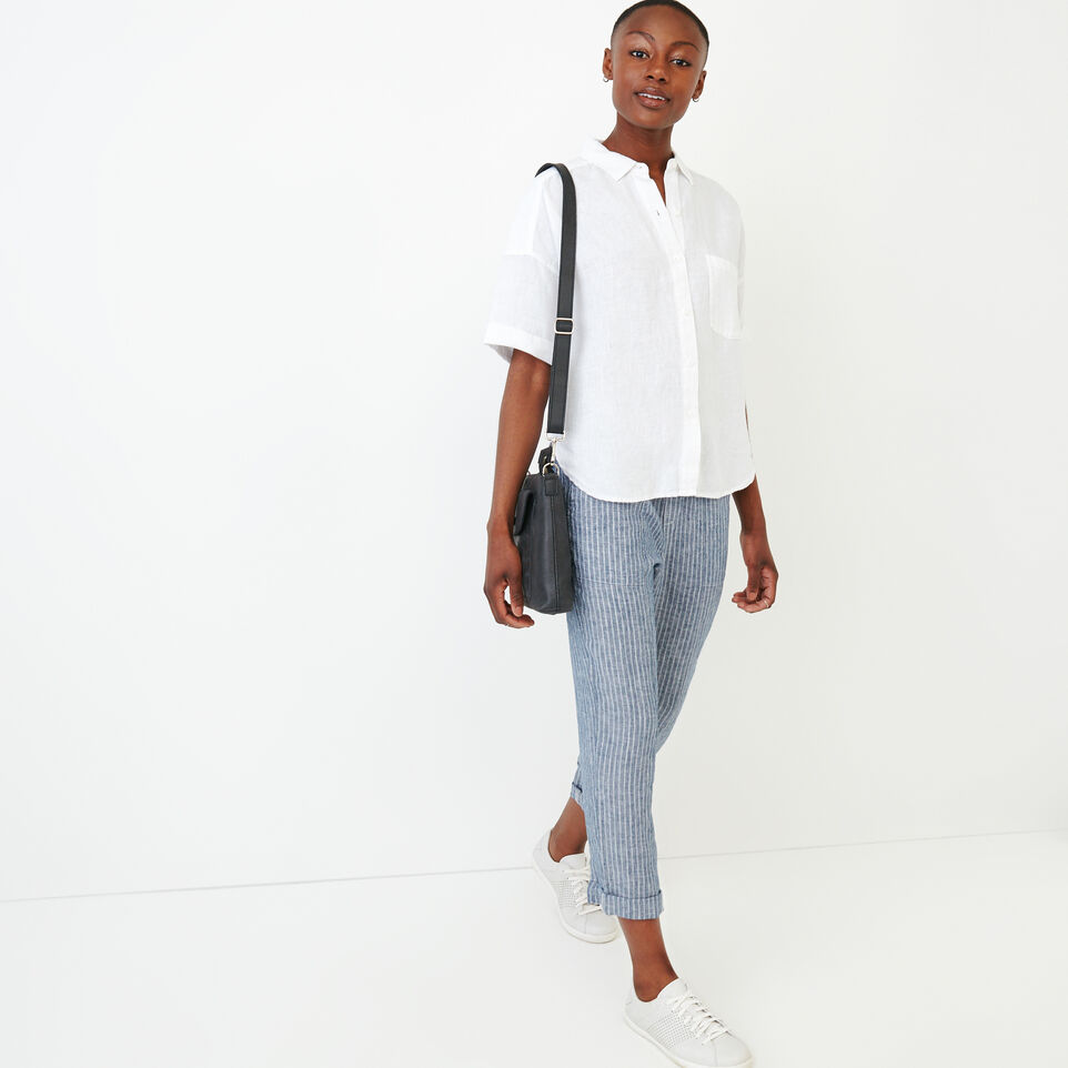 Roots-Women Our Favourite New Arrivals-Wainwright Shirt-White-B