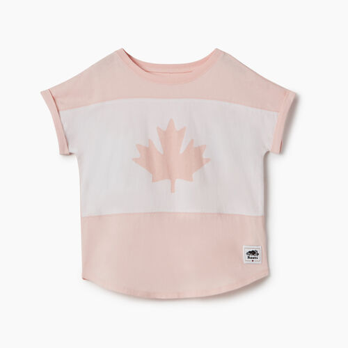 Roots-Kids New Arrivals-Girls Blazon T-shirt-English Rose-A