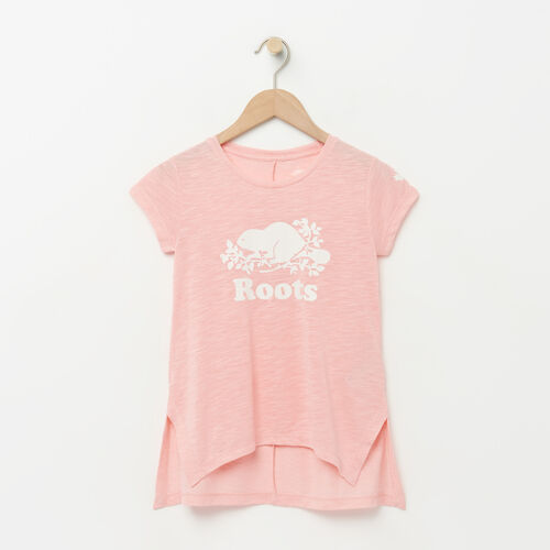 Roots-Kids Girls-Girls Lola Active Swing T-shirt-Blossom Pink Mix-A
