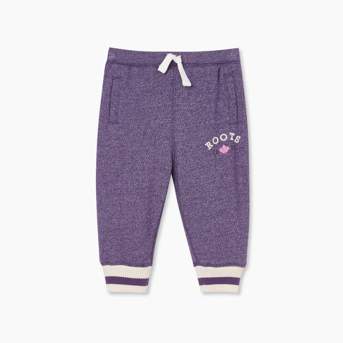Roots-Kids Bottoms-Baby Cabin Cozy Sweatpant-Loganberry Pepper-A