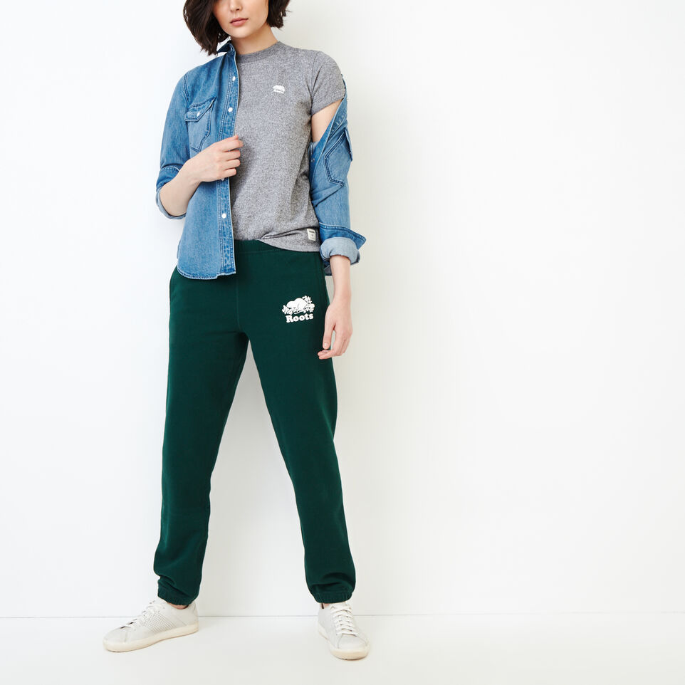 Roots-Women Our Favourite New Arrivals-Original Sweatpant-Varsity Green-B