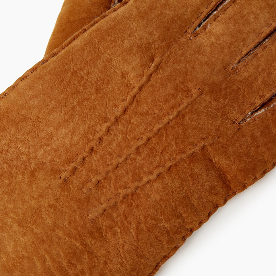 Roots-Leather  Handcrafted By Us Our Favourite New Arrivals-Mens Shearling Glove-Tan-D