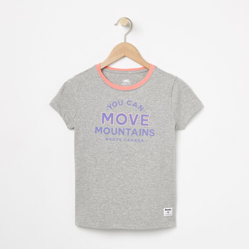 Roots-Kids T-shirts-Girls Get Outside T-shirt-Grey Mix-A