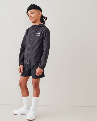 Roots-New For This Month Journey Collection-Boys Journey Packable Windbreaker-Slate-A