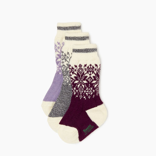 Roots-Kids Our Favourite New Arrivals-Kids Elsa Cabin Sock 3 Pack-Purple-A