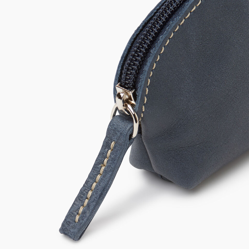 Roots-Leather New Arrivals-Small Euro Pouch-Navy-D