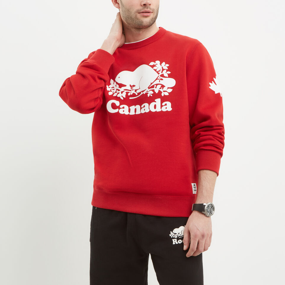 Roots-undefined-Mens Cooper Canada Crew Sweatshirt-undefined-B