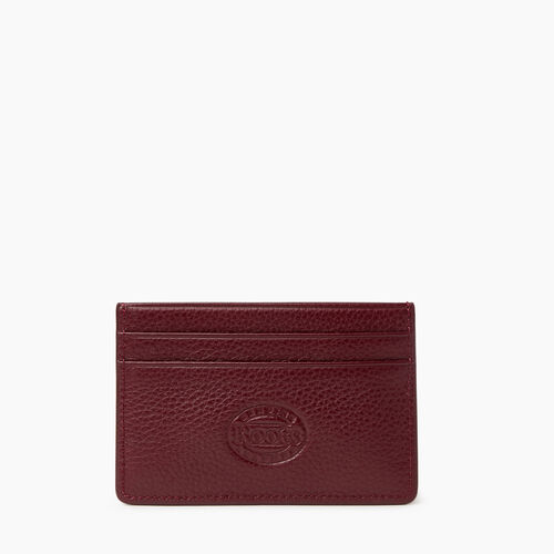 Roots-Leather Leather Accessories-Card Holder Cervino-Bordeaux-A