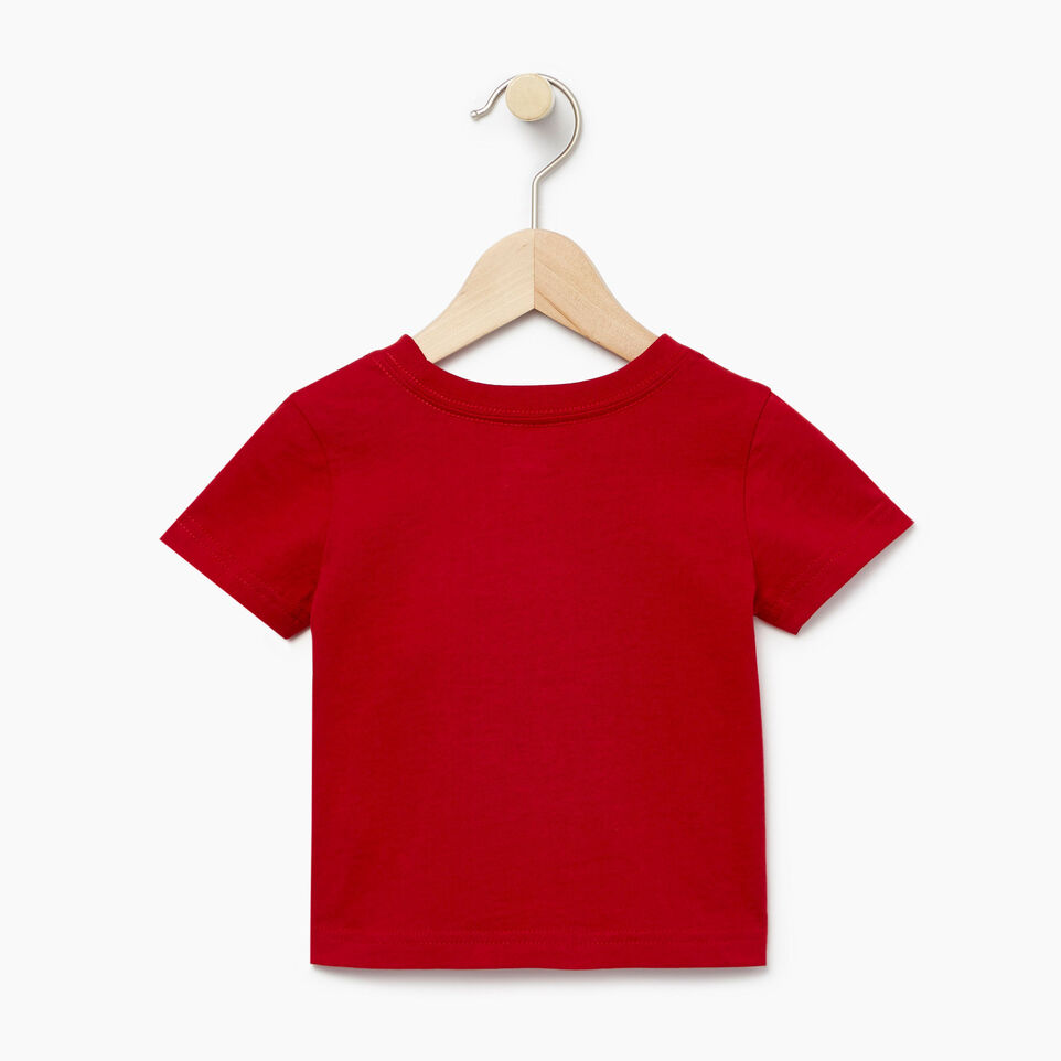Roots-Kids Our Favourite New Arrivals-Baby Blazon T-shirt-Sage Red-B
