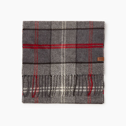 Roots-Sale Accessories-Smoke Lake Plaid Scarf-Grey Mix-A