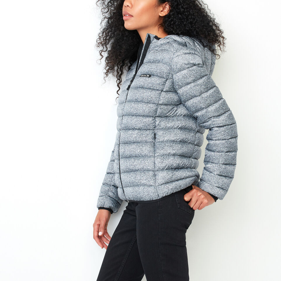 Roots-Women Outerwear-Roots Packable Down Jacket-Salt & Pepper-C