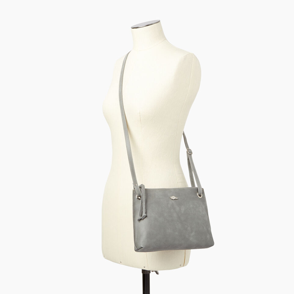 Roots-Leather  Handcrafted By Us Collections-Edie Bag-Quartz-B