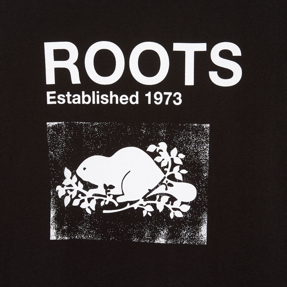 Roots-Women Clothing-Womens Canmore T-shirt-Black-D