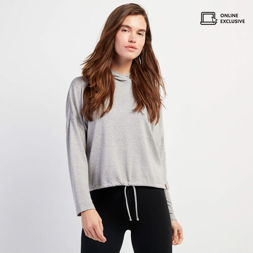 Roots-Women Clothing-Camrose Hoody-Grey Mix-A