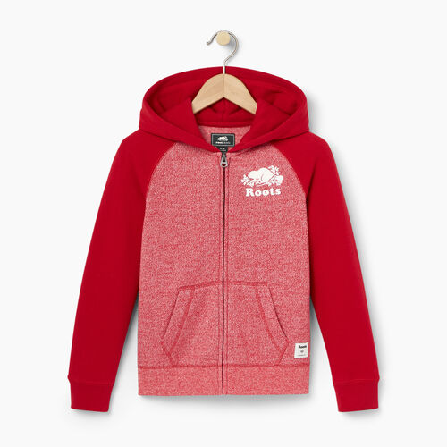 Roots-Kids Our Favourite New Arrivals-Girls Original Full Zip Hoody-Cabin Red Pepper-A