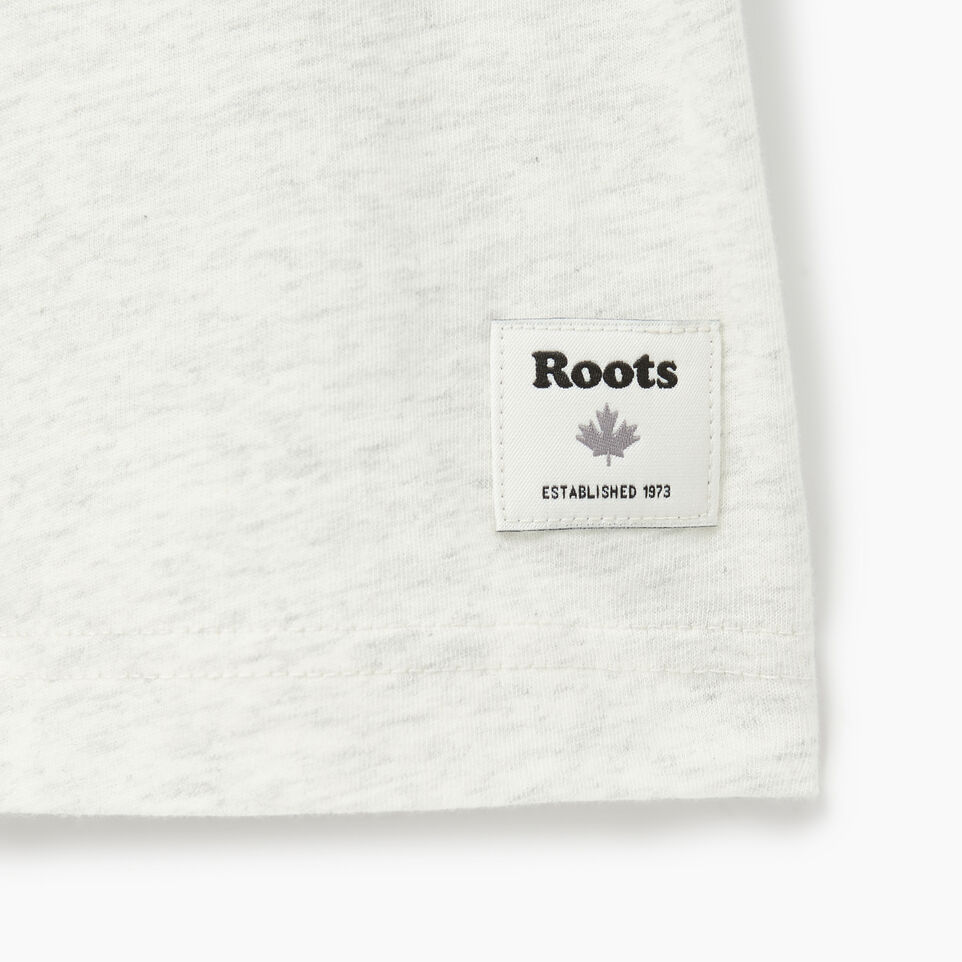 Roots-Men Our Favourite New Arrivals-Mens Roots Runner T-shirt-Ivory Pepper-C