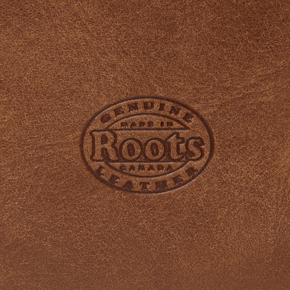 Roots-Women Leather Accessories-Small Euro Pouch-Natural-C