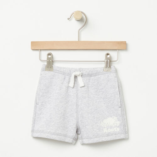 Roots-Kids Bottoms-Baby Original Athletic Short-Snowy Ice Mix-A