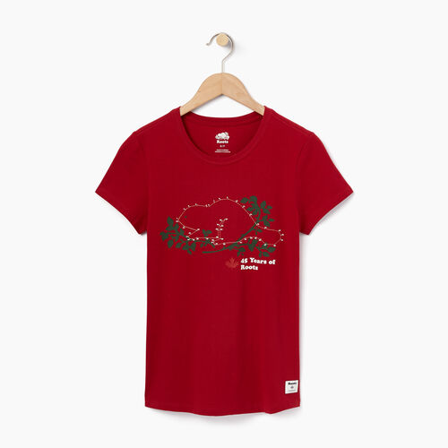 Roots-Sale Women-Womens Connect The Dots Slim T-shirt-Cabin Red-A