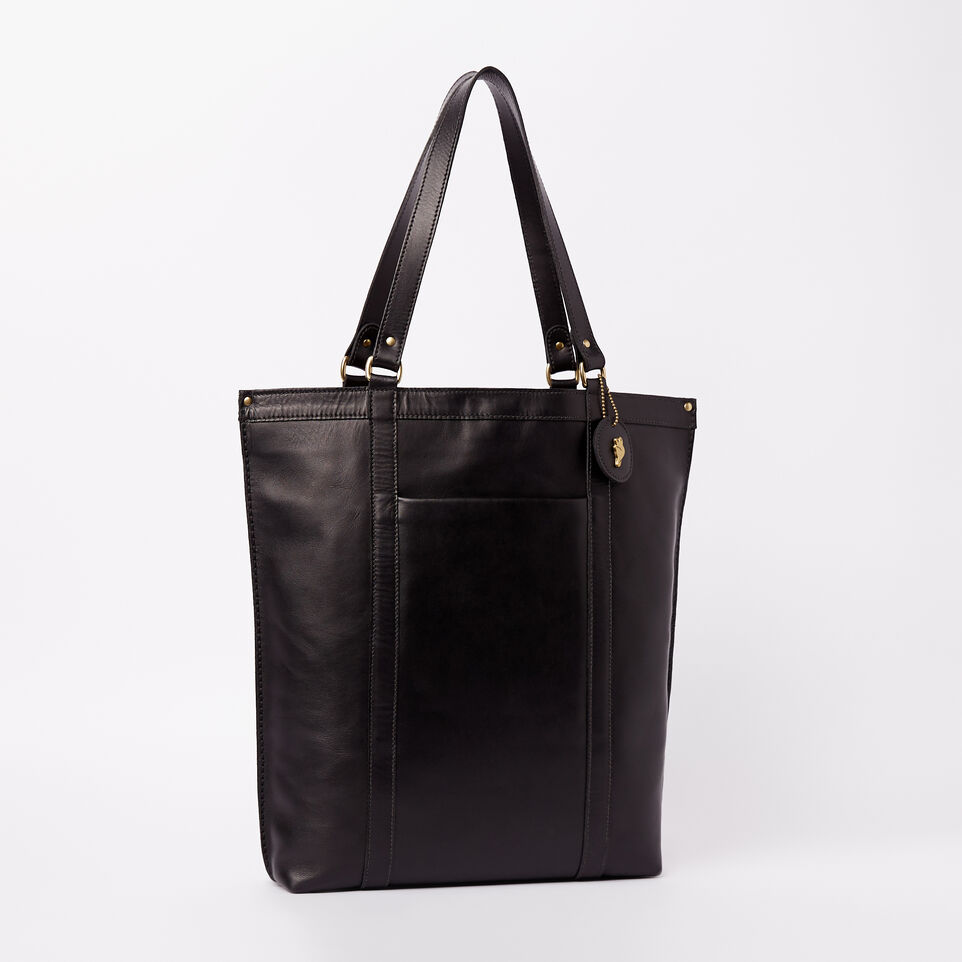 f18b36a4e6 Roots-Leather Heritage Leather-Market Tote Heritage-Black-A ...
