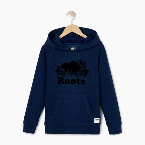 Roots-Clearance Kids-Boys Original Kanga Hoody-Active Blue Pepper-A