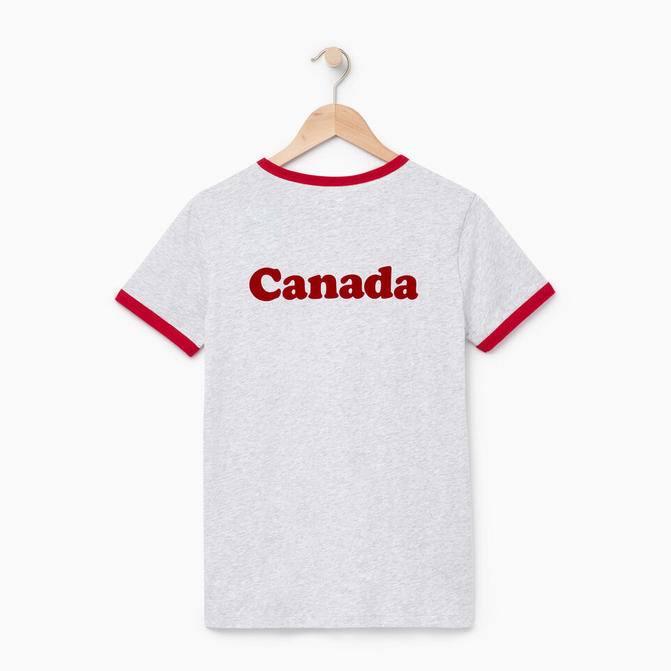 Roots-New For August Women-Womens Canada Ringer T-shirt-Snowy Ice Mix-B