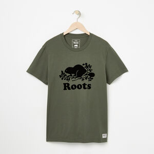 Roots-Men Bestsellers-Mens Cooper Beaver T-shirt-Thyme-A