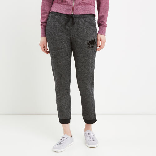 Roots-Women Bottoms-Mabel Lake Ankle Sweatpant-Black Pepper-A