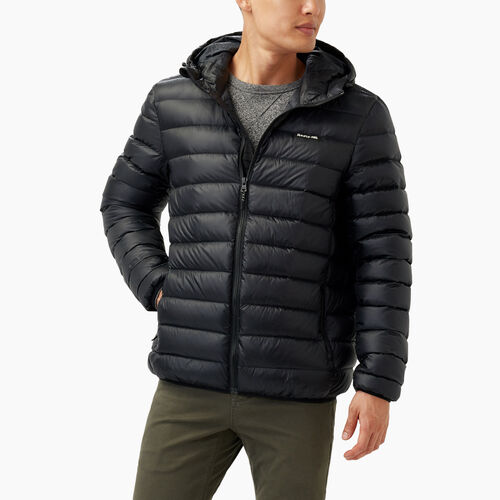 Roots-Men Outerwear-Roots Packable Down Jacket-Black-A