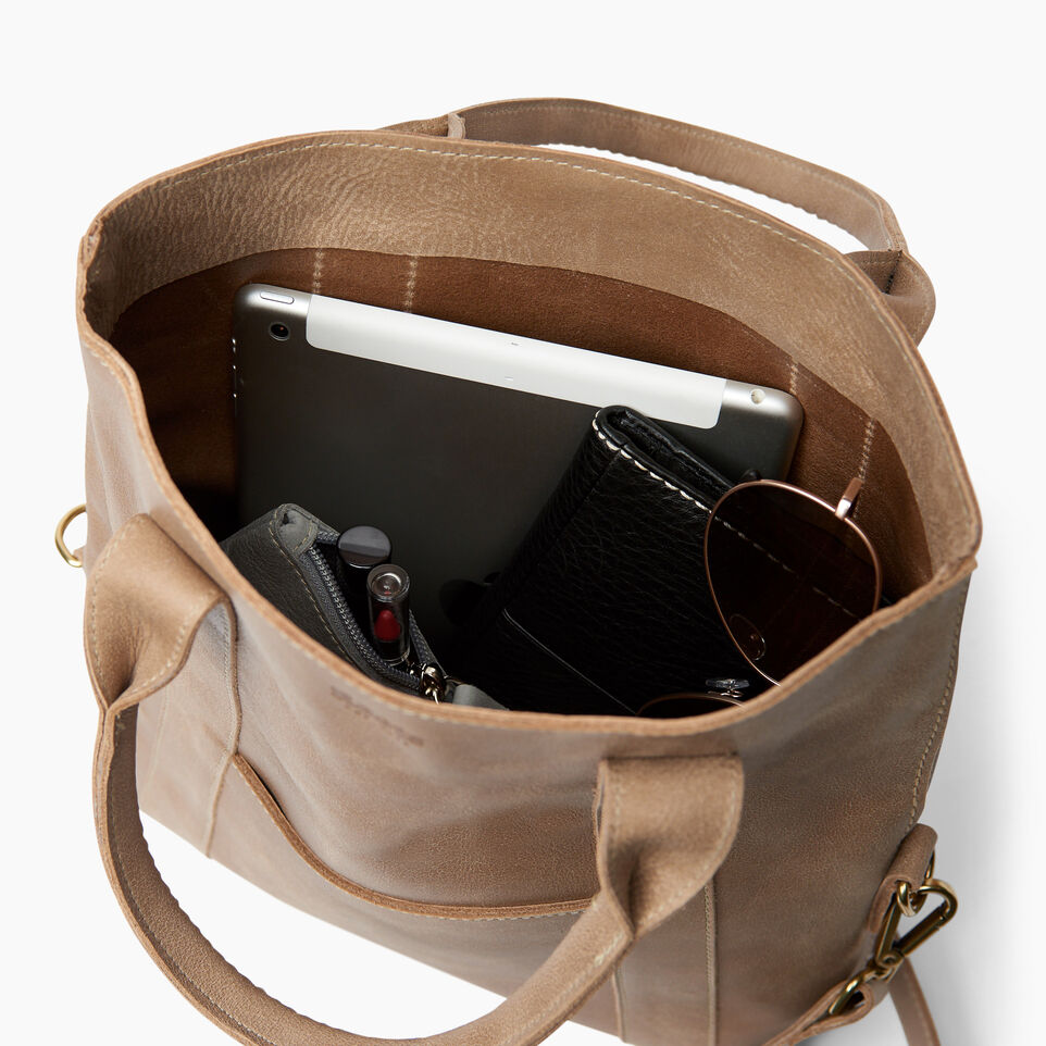 Roots-Leather  Handcrafted By Us Handbags-Annex Tote-Sand-D