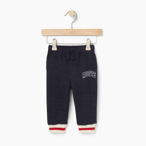Roots-Kids Bestsellers-Baby Roots Cabin Sweatpant-Navy Blazer Pepper-A