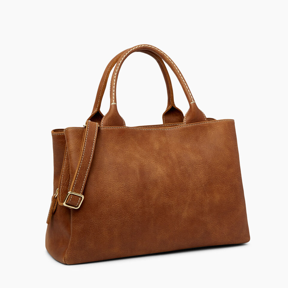 Roots-Leather Categories-Mont Royal Bag-Natural-C