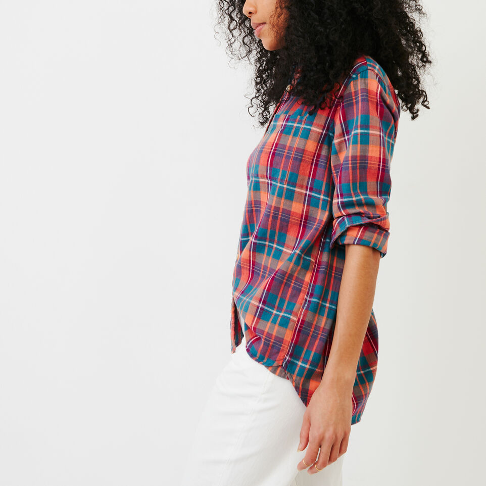 Roots-Women Our Favourite New Arrivals-All Seasons Relaxed Shirt-Spiced Coral-C