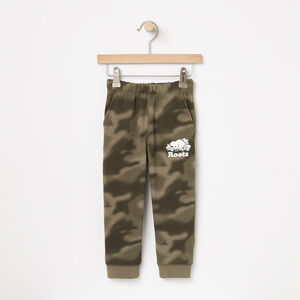 Roots-Kids Bottoms-Toddler Blurred Camo Slim Sweatpant-Dusty Olive-A