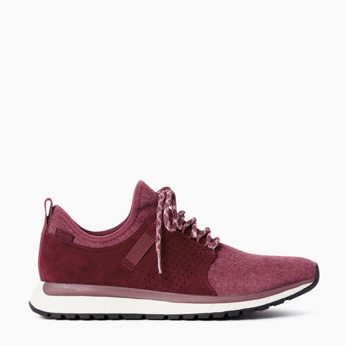 Roots-Footwear Shoes And Sneakers-Womens Rideau Low Sneaker-Northern Red-A