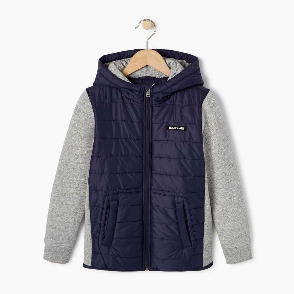 Roots-New For March Daily Offer-Boys Roots Hybrid Hoody Jacket-Navy Blazer-A