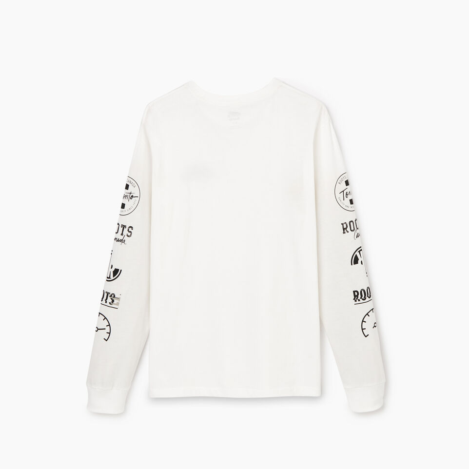 Roots-Men Our Favourite New Arrivals-Mens Symbols Classic Long Sleeve T-shirt-Ivory-B