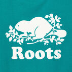 Roots-Women Our Favourite New Arrivals-Womens Cooper Beaver T-shirt-Dynasty Turquoise-D