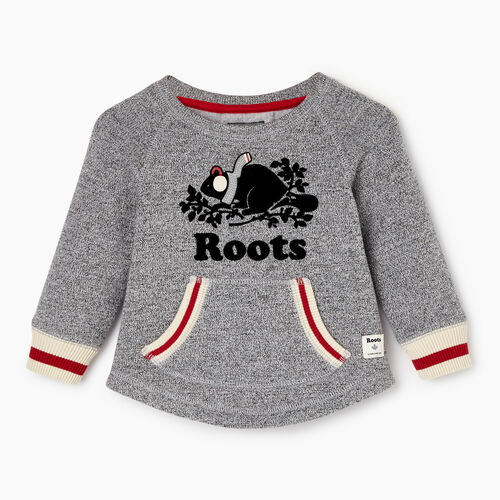 Roots-Sale Kids-Baby Buddy Cozy Fleece Pullover-Salt & Pepper-A