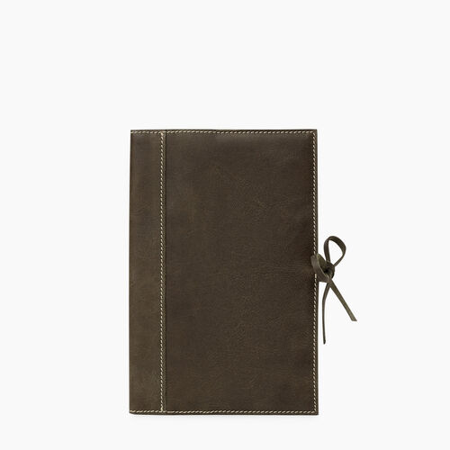 Roots-Leather Tech & Travel-Medium Sketchbook Tribe-Pine-A