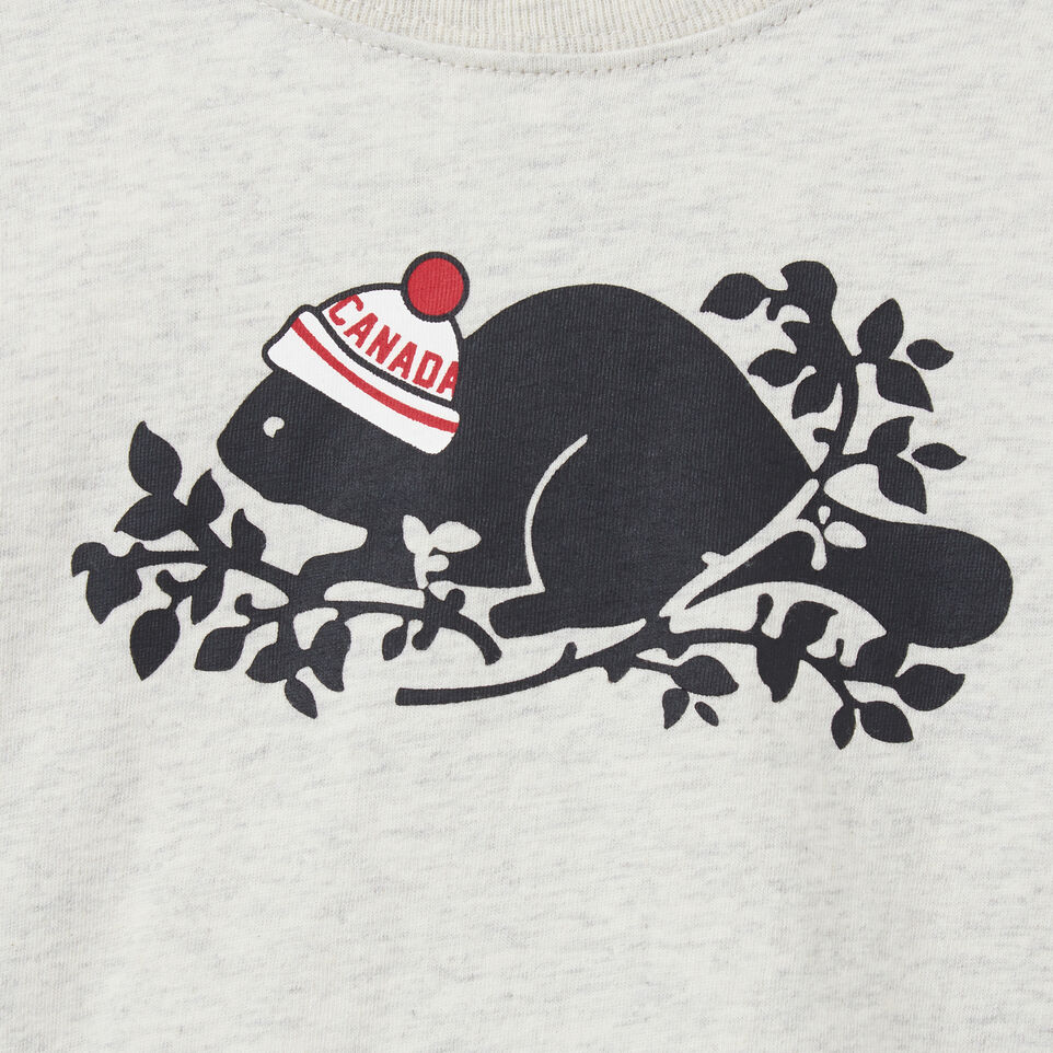 Roots-undefined-Baby Pom Pom Beaver T-shirt-undefined-C