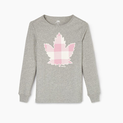 Roots-Kids Our Favourite New Arrivals-Girls Roots Maple Sleep Top-Grey Mix-A