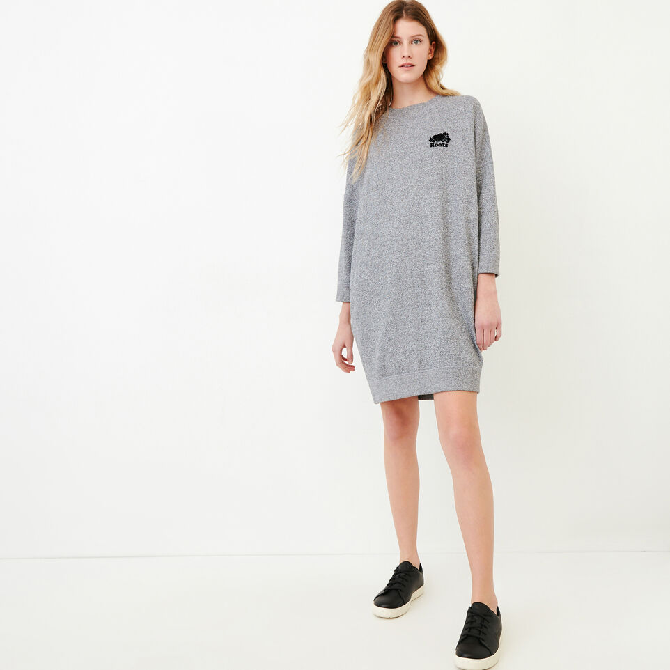 Roots-undefined-Roots Salt and Pepper Oversized Dress-undefined-A