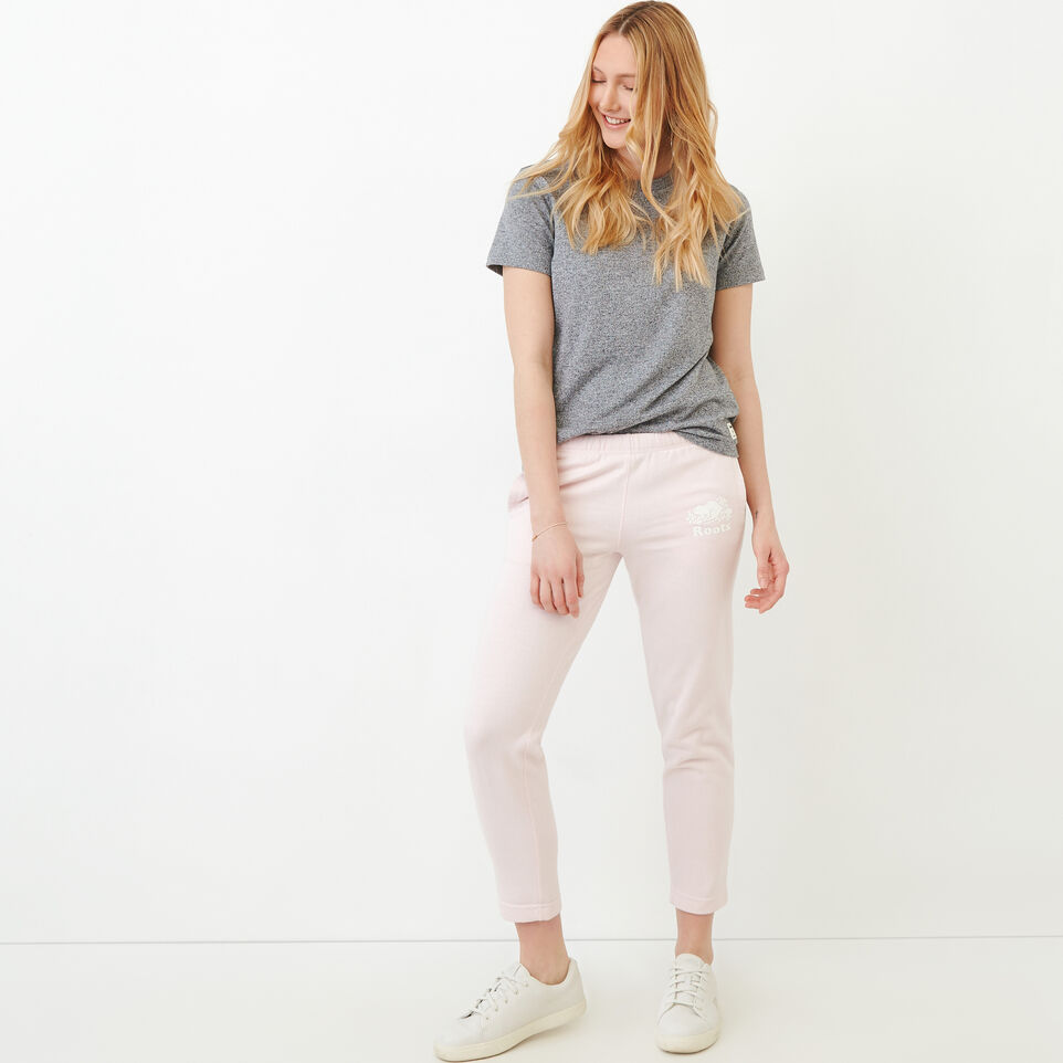 Roots-Sweats Sweatpants-Easy Ankle French Terry Sweatpant-Cradle Pink Pepper-B