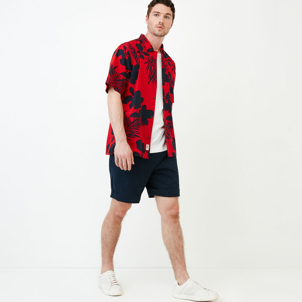 Roots-Men Our Favourite New Arrivals-Alder Flat Shirt-Racing Red-B