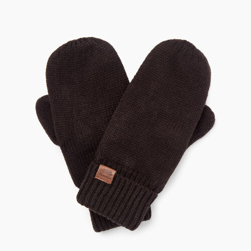 Roots-Women Categories-Roots Basic Mitt-Black-A