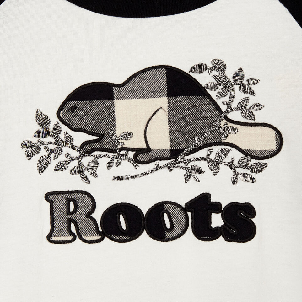 Roots-New For September Today Only: 40% Off Park Plaid Collection-Womens Margaree Long Sleeve T-shirt-Black-D