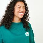 Roots-Women Our Favourite New Arrivals-Chevron Crew Sweatshirt-Teal Green-E