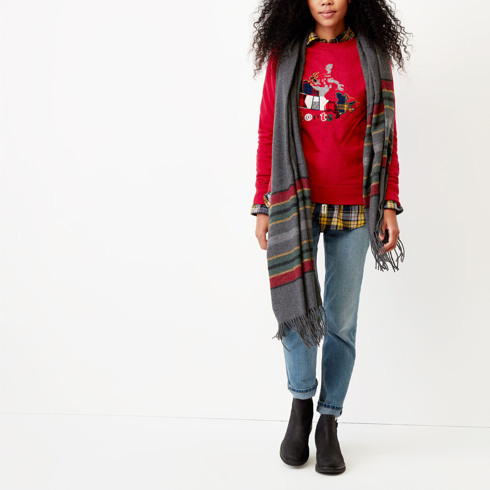 Roots-undefined-Canada Plaid Crew Sweatshirt-undefined-B