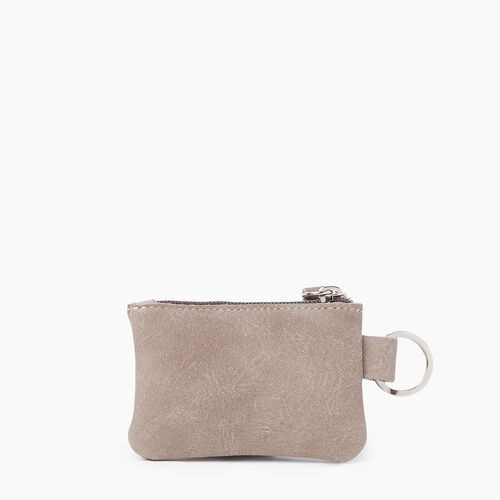 Roots-Men Leather Accessories-Top Zip Pouch Tribe-Fawn-A